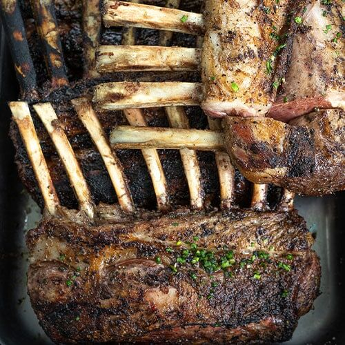 Hickory Grilled Colorado Rack of Lamb